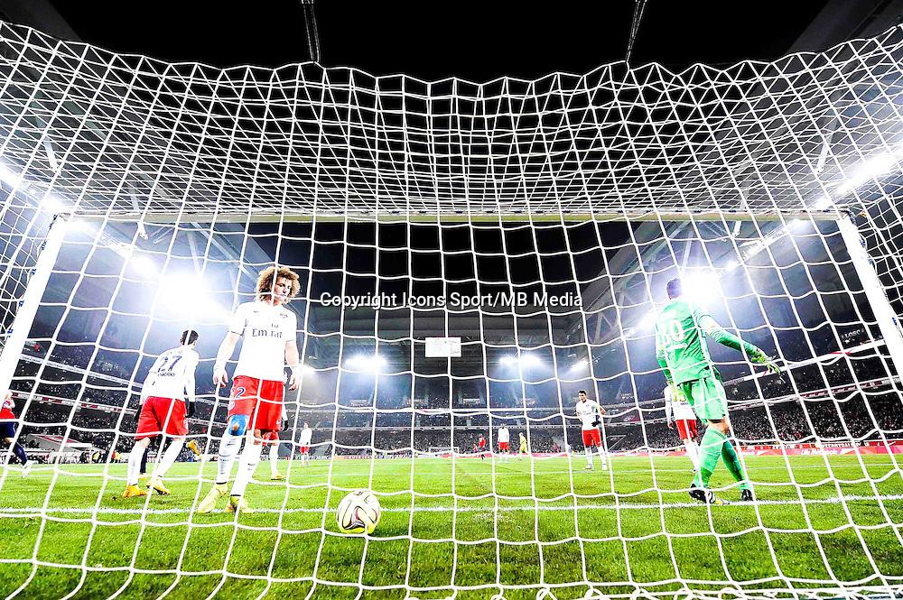 Deception David LUIZ / Salvatore SIRIGU - 03.12.2014 - Lille / Paris Saint Germain - 16eme journee de Ligue 1 -<br />Photo : Fred Porcu / Icon Sport