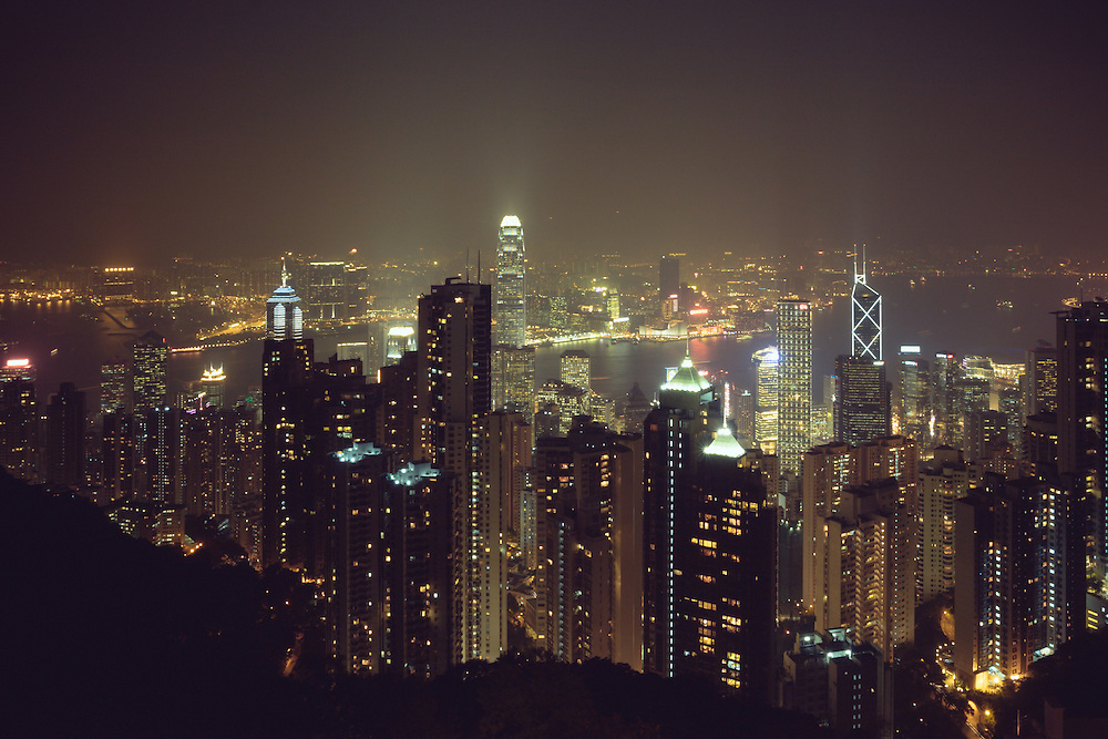 A view from Victoria Peak in Hong Kong