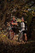 Mountain Bikers Kevin Brady and Dan Letsche at Ponca Sate Park, Ponca, Nebraska