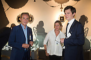 PHILIP MOULD; CATHERINE MOULD; LAWRENCE HENDRA,, The LAPADA Art & Antiques Fair - private view, Berkeley Sq. London. 12  September 2016