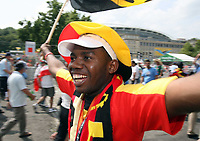Photo: Chris Ratcliffe.<br /> <br /> Iran v Angola. FIFA World Cup 2006. 21/06/2006.<br /> <br /> Angolan fan outside the stadium.