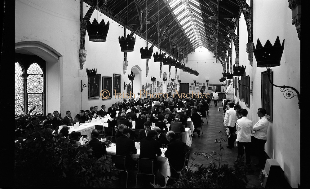 Opening of Kilkenny Design Workshop. General view of the Banquet Hall at Kilkenny Castle.<br /> 15.11.1965