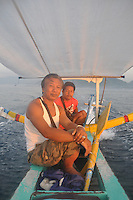 Friends Made and cousin in the Zakk on the way to Nusa Penida.