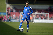 Notts County Defender Wes Atkinson during the Sky Bet League 2 match between Northampton Town and Notts County at Sixfields Stadium, Northampton, England on 2 April 2016. Photo by Dennis Goodwin.