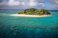 Uninhabited postcard dreamy isle in the Marshall islands, Pacific Ocean