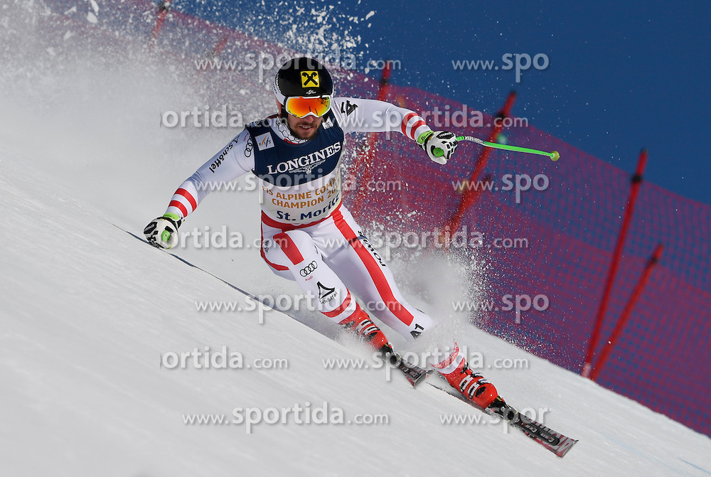 13.02.2017, St. Moritz, SUI, FIS Weltmeisterschaften Ski Alpin, St. Moritz 2017, alpine Kombination, Herren, Abfahrt, im Bild Marcel Hirscher (AUT, Herren Alpine Kombination Silbermedaille) // men&rsquo;s Alpine Combined Silver medalist Marcel Hirscher of Austria in action during his run of downhill for the men's Alpine combination of the FIS Ski World Championships 2017. St. Moritz, Switzerland on 2017/02/13. EXPA Pictures &copy; 2017, PhotoCredit: EXPA/ Sammy Minkoff<br /> <br /> *****ATTENTION - OUT of GER*****