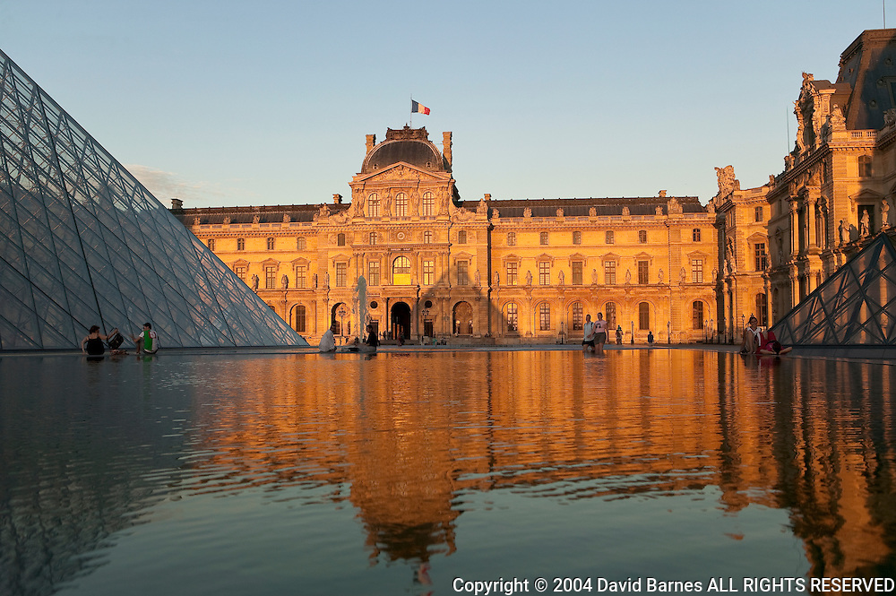 Pyramid and Louvre Paris, France