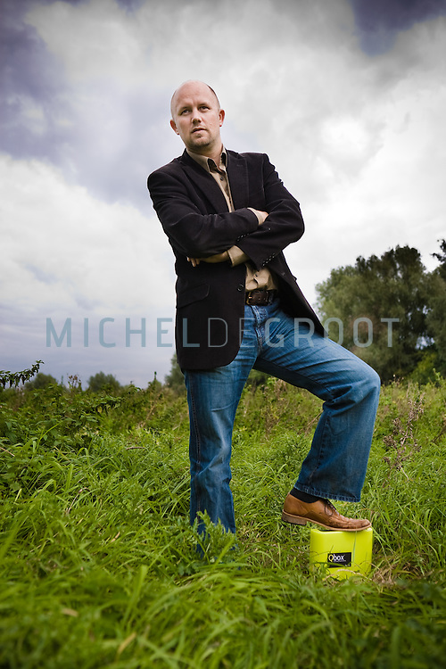 Igor Kluin, CEO of Qurrent in Schiedam, The Netherlands on 16 September, 2008. A year earlier in September 2007 with his Q-box Kluin has won the PICNIC Green Challenge, a contest for the best durable and green idea or product. by Michel de Groot)