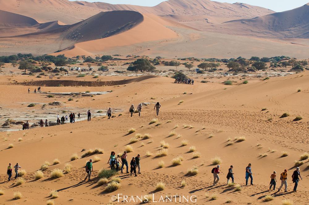 Tourists, Sossusvlei, Namib-Naukluft National Park