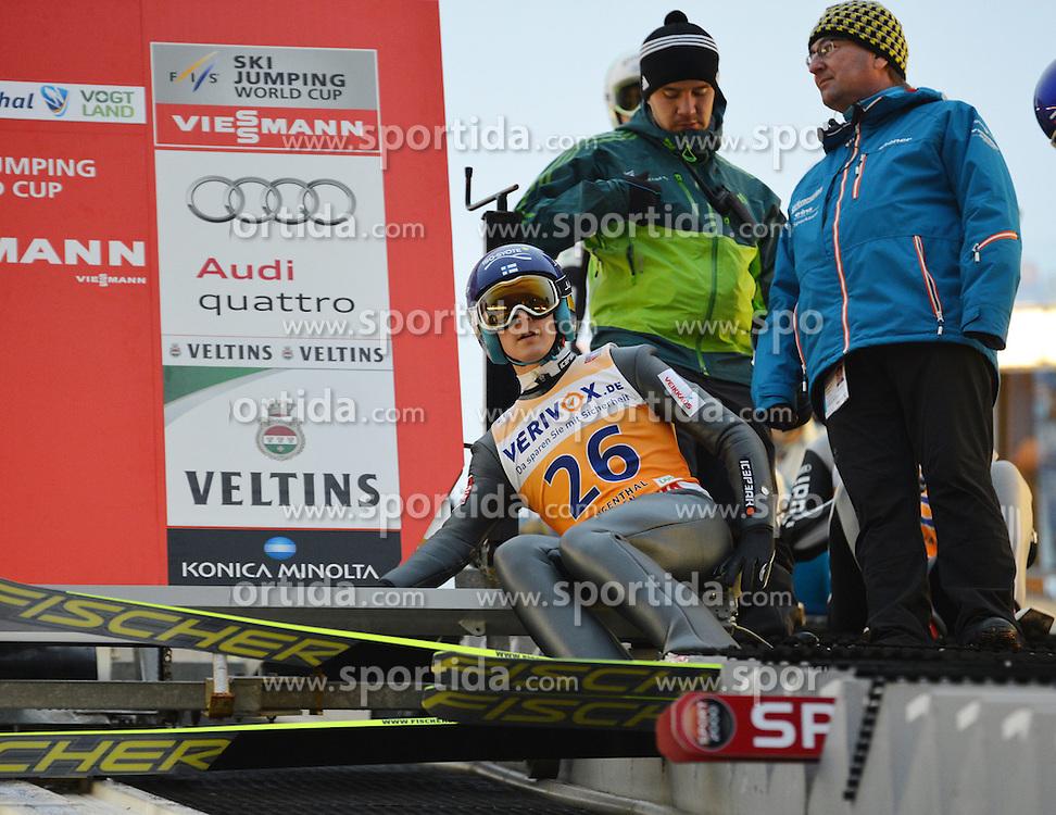 21.11.2014, Vogtland Arena, Klingenthal, GER, FIS Weltcup Ski Sprung, Klingenthal, Herren, HS 140, Qualifikation, im Bild Jarkko Maeaettae (FIN) // during the mens HS 140 qualification of FIS Ski jumping World Cup at the Vogtland Arena in Klingenthal, Germany on 2014/11/21. EXPA Pictures &copy; 2014, PhotoCredit: EXPA/ Eibner-Pressefoto/ Harzer<br /> <br /> *****ATTENTION - OUT of GER*****