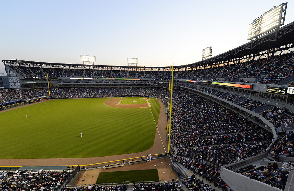 CHICAGO - MAY 13:  A general view of Guaranteed Rate Field as 29,111 fans watch the Chicago White Sox play the San Diego Padres on May 13, 2017 at Guaranteed Rate Field in Chicago, Illinois.  The White Sox defeated the Padres 5-4.  (Photo by Ron Vesely)