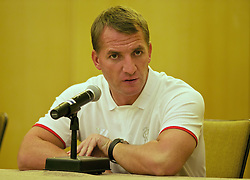 NEW YORK, USA - Tuesday, July 29, 2014: Liverpool's manager Brendan Rodgers during a press conference a the Four Seasons Hotel on day nine of the club's USA Tour. (Pic by David Rawcliffe/Propaganda)