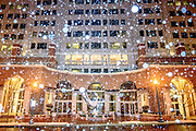 Silver Spring, Maryland - January 12, 2019: Snow falls on the National Oceanic and Atmospheric Administration offices in Silver Spring, Md., Saturday, January 12, 2019. Ironically, the NOAA's National Weather Service -- closed by the ongoing government shutdown -- will not record data about the DC area's first snowfall of the year.<br /> <br /> CREDIT: Matt Roth for The New York Times<br /> Assignment ID: 30229153A