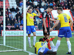Huddersfield Town's Conor Coady reacts as a late opportunity against AFC Bournemouth is denied - Photo mandatory by-line: Paul Knight/JMP - Mobile: 07966 386802 - 14/02/2015 - SPORT - Football - Bournemouth - Goldsands Stadium - AFC Bournemouth v Huddersfield Town - Sky Bet Championship