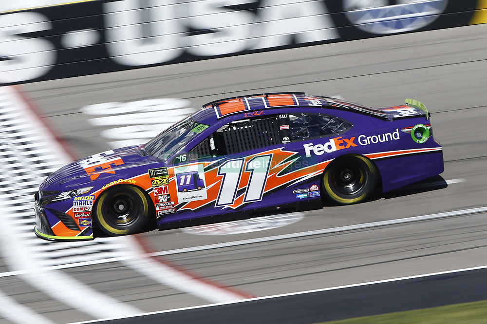 September 14, 2018 - Las Vegas, Nevada, United States of America - Denny Hamlin (11) brings his race car down the front stretch during practice for the South Point 400 at Las Vegas Motor Speedway in Las Vegas, Nevada. (Credit Image: © Chris Owens Asp Inc/ASP via ZUMA Wire)