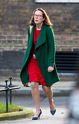 © Licensed to London News Pictures. 30/01/2018. London, UK. Lord Privy Seal and Leader of the House of Lords Baroness Natalie Evans arriving in Downing Street to attend a Cabinet meeting this morning. Photo credit : Tom Nicholson/LNP
