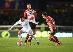 Joao Teixeira of Liverpool - Mandatory byline: Alex James/JMP - 08/01/2016 - FOOTBALL - St James Park - Exeter, England - Exeter City v Liverpool - FA Cup Third Round