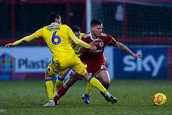 Billy Kee of Accrington Stanley takes on Edward Upson of Bristol Rovers - Mandatory by-line: Robbie Stephenson/JMP - 12/01/2019 - FOOTBALL - Wham Stadium - Accrington, England - Accrington Stanley v Bristol Rovers - Sky Bet League One