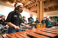 The Alisal Community Arts Network Afro-Latin Jazz Orchestra performs at the December 5th, 2017 opening of the Stories from Salinas exhibition at the CSUMB Salinas Center for Arts and Culture in Oldtown. The exhibition celebrates the mentors, youth and families of the Salinas Youth Initiative.