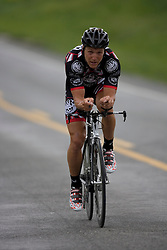 Rudolph Napolitano (ROC) during stage 1 of the Tour of Virginia.  The Tour of Virginia began with a 4.7 mile individual time trial near Natural Bridge, VA on April 24, 2007. Formerly known as the Tour of Shenandoah, the ToV has gained National Race Calendar (NRC) status for the first time in its five year history.