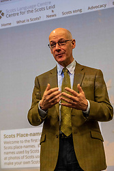 Pictured: John Swinney<br /><br />Deputy First Minister John Swinney headed to perth today to help with a Digital Scots Map launch. Scots Language Centre director Dr Michael Dempster, and children from Robert Douglas Memorial Primary School and Perth High School help qwith the developme nt and launch of Gaun hame, the first Scots language digital map of Scotland<br /><br />Ger Harley | EEm 20 September 2019