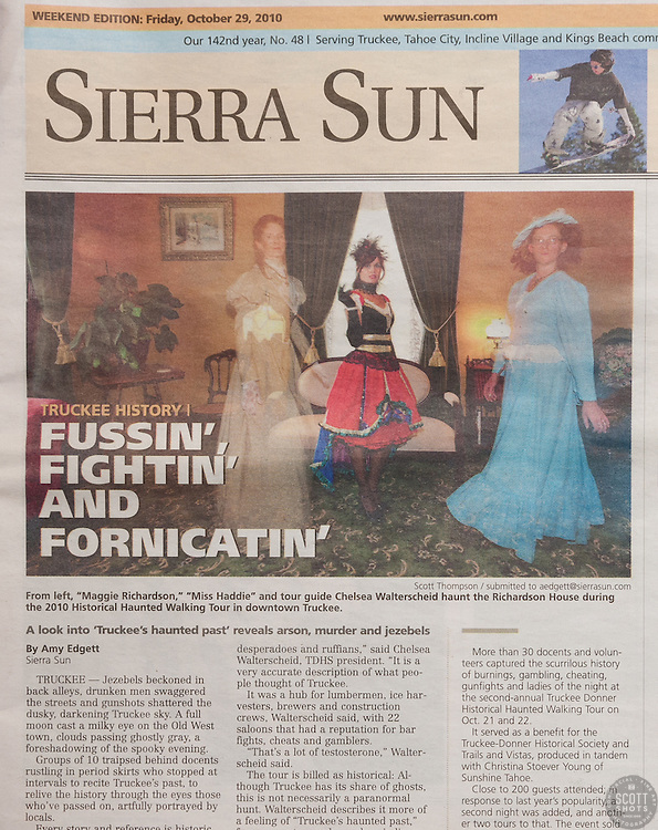 Sierra Sun Cover Photo for Historical Haunted Tour