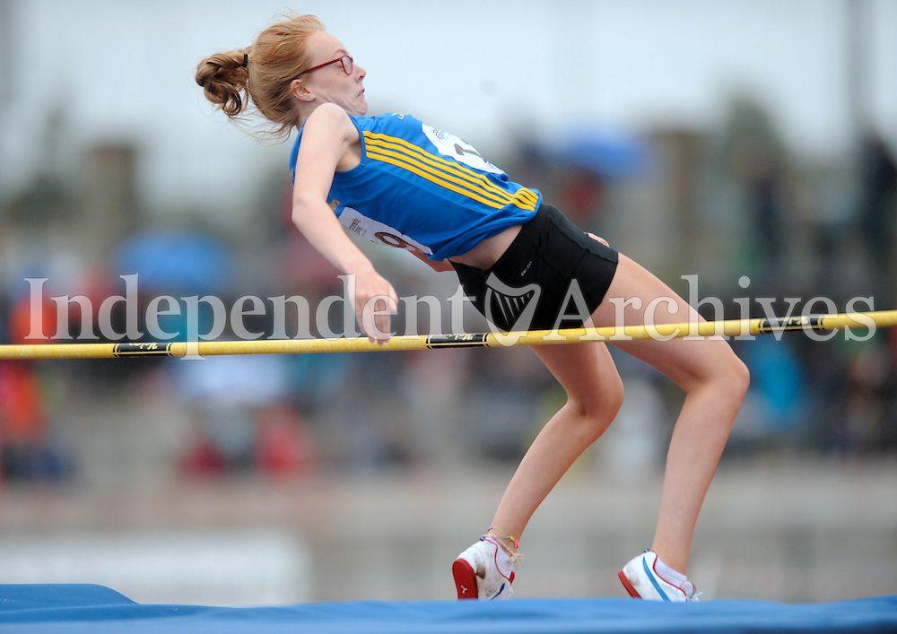 21 Aug 2016:  Clodagh Kiely, from Longford, taking part in the Girls U16 High Jump.  2016 Community Games National Festival 2016.  Athlone Institute of Technology, Athlone, Co. Westmeath. Picture: Caroline Quinn