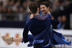 January 20, 2018 - Moscow, Russia - Natalia Kaliszek and Maksym Spodyriev of Poland perform during an ice dance free dance event at the 2018 ISU European Figure Skating Championships, at Megasport Arena in Moscow, on January 20, 2018. (Credit Image: © Igor Russak/NurPhoto via ZUMA Press)