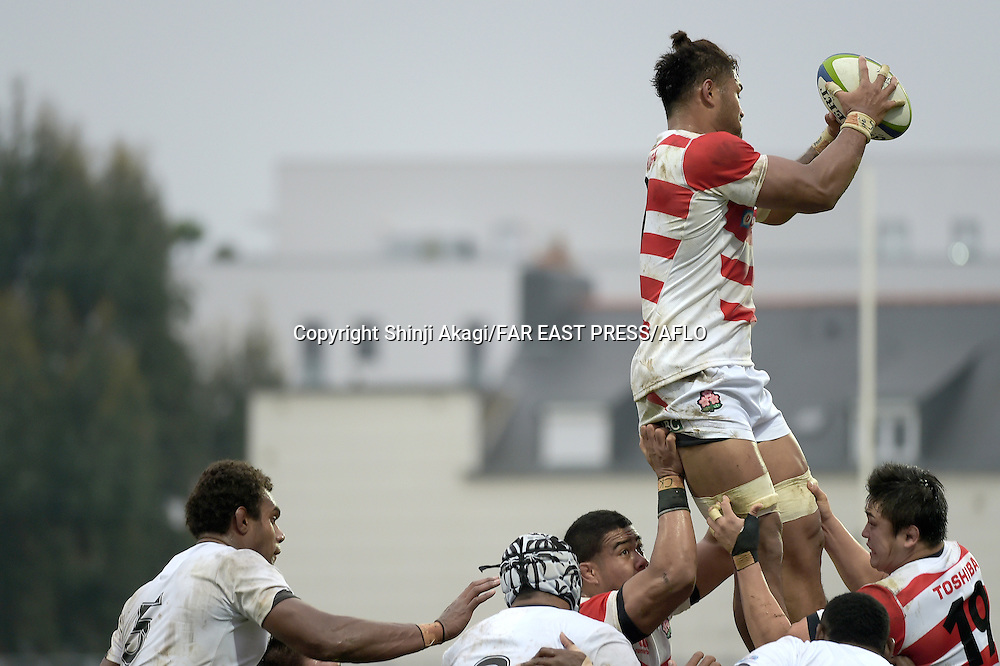 Amanaki Lelei Mafi (JPN), NOVEMBER 26, 2016 - Rugby : Rugby test match between Fiji and Japan at the Stade de la Rabine in Vannes, France. (Photo by FAR EAST PRESS/AFLO)