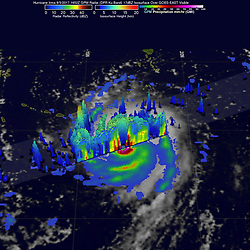 September 5, 2017 - Atlantic Ocean, U.S. - Irma Infrared Suomin. Hurricane Irma intensified into a strong and 'potentially catastrophic' category 5 storm. By definition, category 5 storms deliver maximum sustained winds of at least 157 miles (252 kilometers) per hour. Irma's winds that morning approached 180 miles per hour, the strongest ever measured for an Atlantic hurricane outside of the Gulf of Mexico or north of the Caribbean. (Credit Image: © NOAA/NASA via ZUMA Wire/ZUMAPRESS.com)