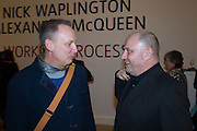 PAUL HARTNELL; NICK WAPLINGTON, Opening for Nick Waplington's Alexander McQueen photography exhibition and Christina Mackie's Tate Britain Commission. Tate Britain. London. 23 March 2015