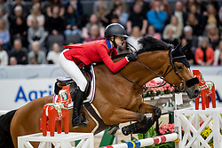 JOBS Eve (USA), Limbridge<br /> Göteborg - Gothenburg Horse Show 2019 <br /> Gothenburg Trophy presented by VOLVO<br /> Int. jumping competition with jump-off (1.55 m)<br /> Longines FEI Jumping World Cup™ Final and FEI Dressage World Cup™ Final<br /> 06. April 2019<br /> © www.sportfotos-lafrentz.de/Stefan Lafrentz