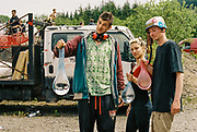 Ravers with water balloons, Halfway Quarry Brecon Wales, May 2017