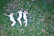 XI\'AN, CHINA - MAY 09: (CHINA OUT) <br /> <br /> Nurses pose on the grass for photography on May 9, 2016 in Xi\'an, Shaanxi Province of China. Nurses of Xi\'an Hospital of Traditional Chinese Medicine took creative photos to welcome the International Nurses Day.<br /> ©Exclusivepix Media