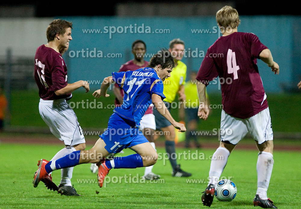 Eero Korte vs Etien Velikonja of Gorica at 1st football match of 2nd preliminary Round of UEFA Europe League between ND Gorica and FC Lahti, on July 16 2009, in Nova Gorica, Slovenia. (Photo by Vid Ponikvar / Sportida)