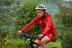 ROTTACH-EGERN, GERMANY - Thursday, July 27, 2017: Liverpool's Philippe Coutinho Correia cycles back from training from the Seehotel Uberfahrt on the banks of Lake Tegernsee on day two of their preseason training camp in Germany. (Pic by David Rawcliffe/Propaganda)