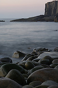 Otter Cliffs Boulder Beach, Bar Harbor, ME (US) shot at slow shutter speed to render water soft like mist