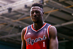 Daniel Edozie of Bristol Flyers cuts a frustrated figure - Mandatory by-line: Robbie Stephenson/JMP - 16/09/2019 - BASKETBALL - University of Worcester Arena - Worcester, England - Worcester Wolves v Bristol Flyers - Preseason Friendly