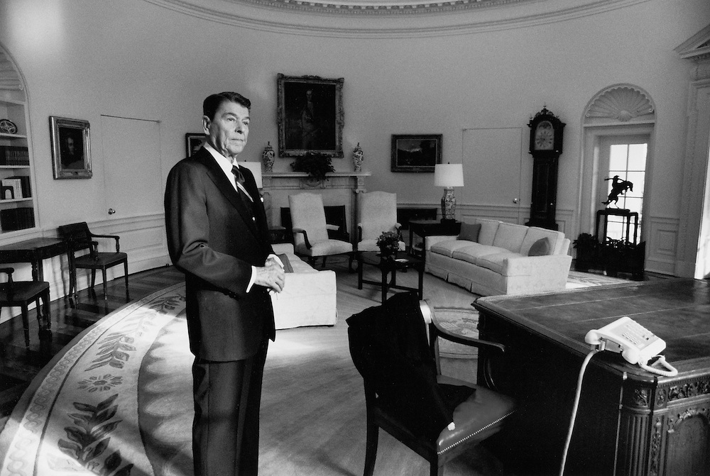 President Reagan takes one last look at the Oval Office on his last day, Jan. 20, 1989...(Photo by Pete Souza/The White House)