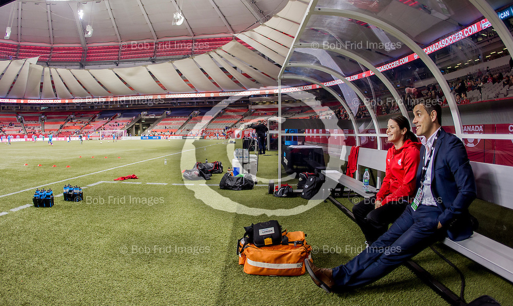28 October 2014:  Women's national teams.   Friendly between host Canada and Japan.    BC Place Stadium,  Downtown Vancouver, British Columbia, Canada.  ****(Photo by Bob Frid - Canada Soccer - 2014 - All Rights Reserved)