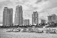 South Pointe Skyline (monochrome)