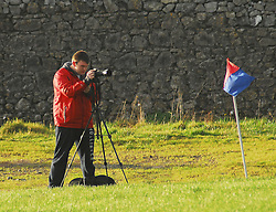 The Sky Sports Camerman  (Adam Bourke )in action at the Under 17 league final in Tuam...Pic Conor McKeown