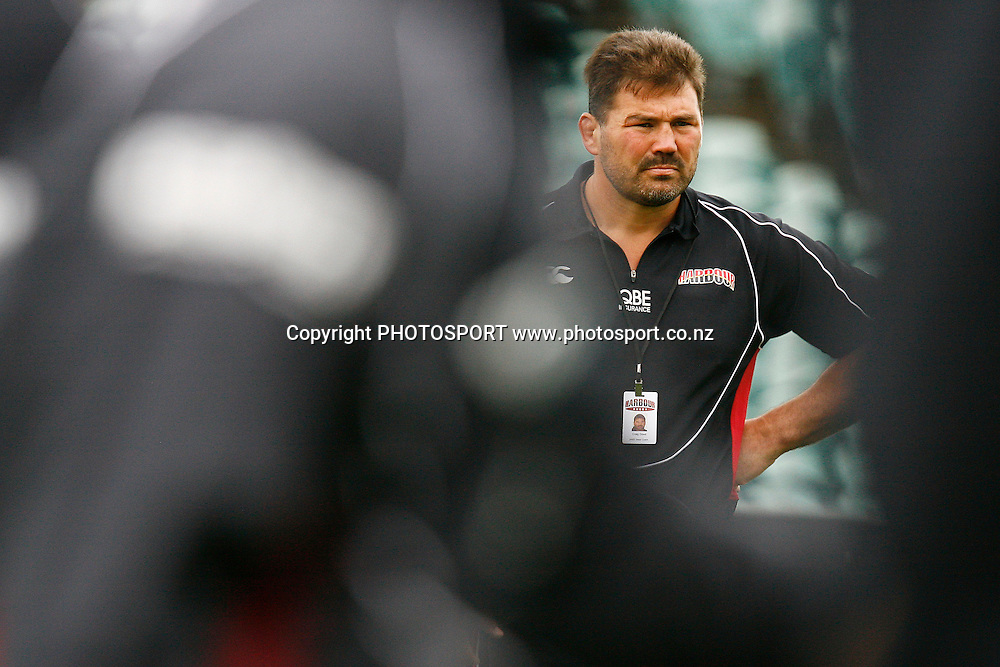 North Harbour's Head Coach Craig Dowd looks on. Air NZ Cup Rugby Union Match. North Harbour v Hawkes Bay. North Harbour Stadium, Albany, Auckland, New Zealand. Saturday 12th September 2009. Photo: Anthony Au-Yeung/PHOTOSPORT