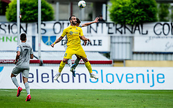 Predrag Sikimic of Domzale vs Jan Andrejasic of Olimpija during football match between NK Domzale and NK Olimpija in 29th Round of Prva liga Telekom Slovenije 2019/20, on June 21, 2020 in Sports park, Domzale, Slovenia. Photo by Vid Ponikvar / Sportida