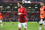 Juan Mata of Manchester United before the Barclays Premier League match between Bournemouth and Manchester United at the Goldsands Stadium, Bournemouth, England on 12 December 2015. Photo by Phil Duncan.