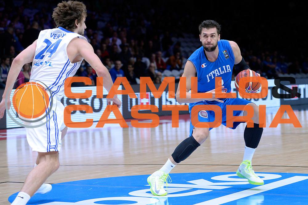 DESCRIZIONE : Lille Eurobasket 2015 Qualificazioni 5-8 posto Qualification 5-8 Game Italia Repubblica Ceca Italy Czech Republic<br /> GIOCATORE : Andrea Bargnani<br /> CATEGORIA : penetrazione tecnica<br /> SQUADRA : Italia Italy<br /> EVENTO : Eurobasket 2015 <br /> GARA : Italia Repubblica Ceca Italy Czech Republic<br /> DATA : 17/09/2015 <br /> SPORT : Pallacanestro <br /> AUTORE : Agenzia Ciamillo-Castoria/Max.Ceretti<br /> Galleria : Eurobasket 2015 <br /> Fotonotizia : Qualificazioni 5-8 posto Qualification 5-8 Game Italia Repubblica Ceca Italy Czech Republic