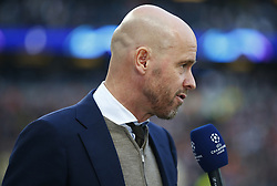 April 30, 2019 - London, England, United Kingdom - Erik ten Hag manager of Ajax before kick off.during UEFA Championship League Semi- Final 1st Leg between Tottenham Hotspur  and Ajax at Tottenham Hotspur Stadium , London, UK on 30 Apr 2019. (Credit Image: © Action Foto Sport/NurPhoto via ZUMA Press)