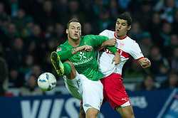 27.11.2011, Weser Stadion, Bremen, GER, 1.FBL, Werder Bremen vs VFB Stuttgart, im BildMarko Arnautovic (Bremen #7) Khalid Boulahrouz (Stuttgart #21). // during the Match GER, 1.FBL, Werder Bremen vs VFB Stuttgart, Weser Stadion, Bremen, Germany, on 2011/11/27.EXPA Pictures © 2011, PhotoCredit: EXPA/ nph/ Kokenge..***** ATTENTION - OUT OF GER, CRO *****