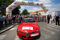 before start of the 4th stage of Tour de Slovenie 2009 from Sentjernej to Novo mesto, 153 km, on June 21 2009, Slovenia. (Photo by Vid Ponikvar / Sportida)