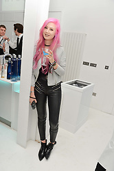 AMY VALENTINE at a London Fashion Week Party hosted by rewardStyle at IceTank, 5 Grape Street, London on 21st February 2016.